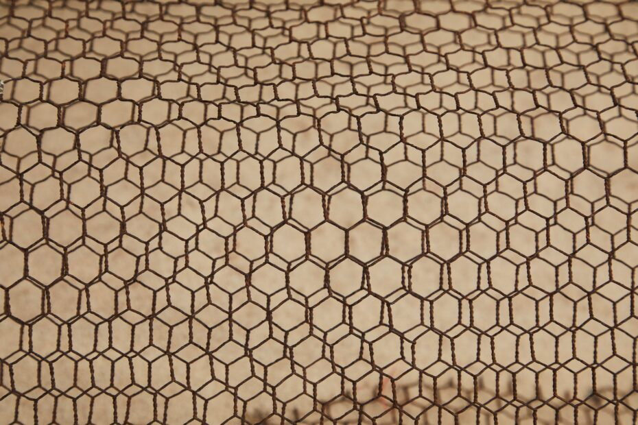 abstract background of metal rough lattice