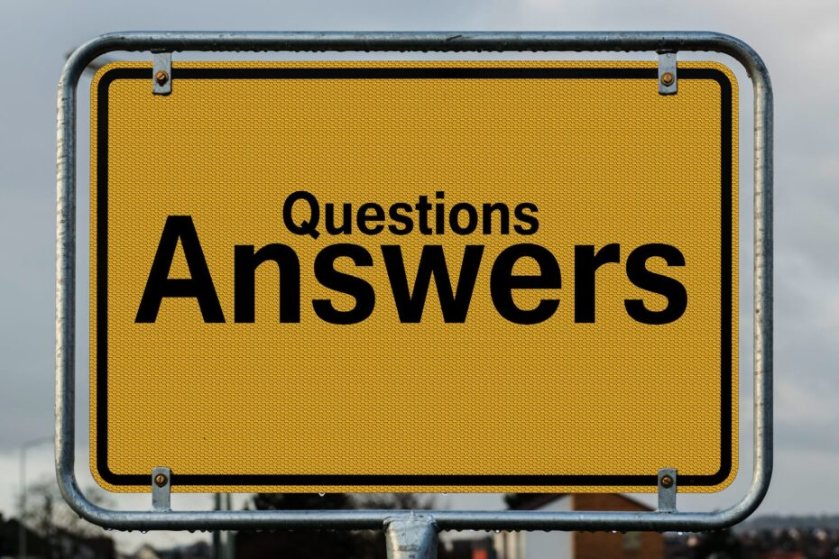 questions answers signage